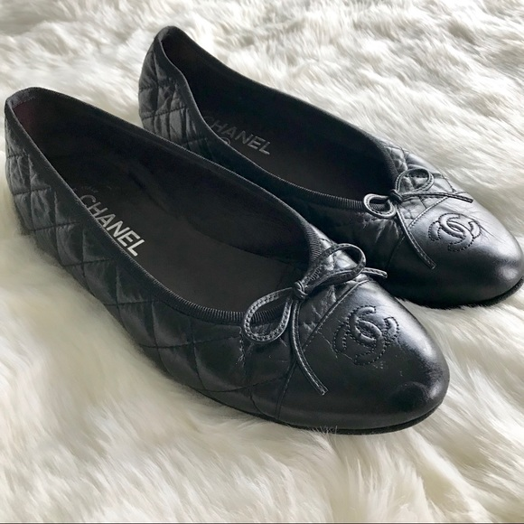 Chanel Classic Black Quilted Ballet